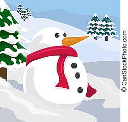 snowman, ilustración