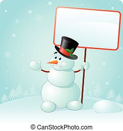 snowman in a hat