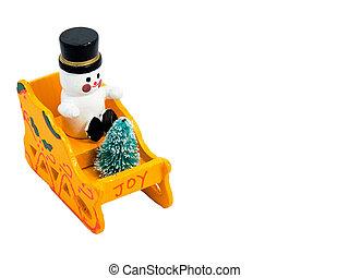 Snowman In A Sleigh