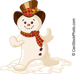 snowman, lindo, navidad