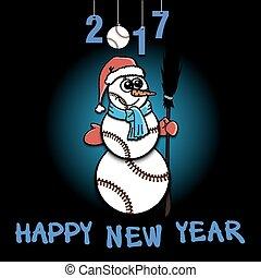 Snowman of baseball