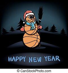 Snowman of basketball