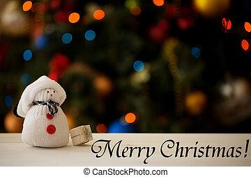 Snowman on a Christmas tree