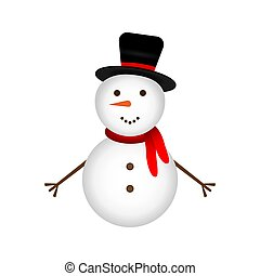 Snowman on a white background