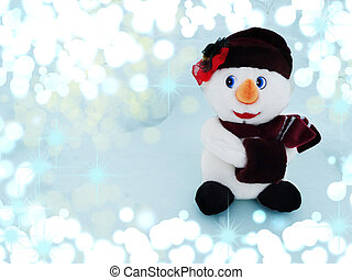 snowman on snow christmas decoration