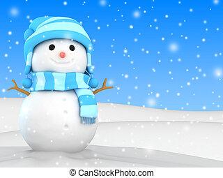 snowman, plano de fondo