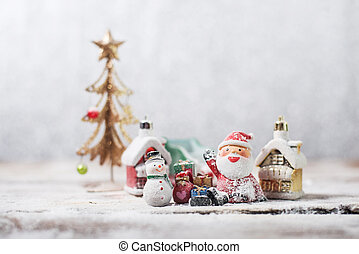snowman santa claus ready christmas. High quality and resolution beautiful photo concept