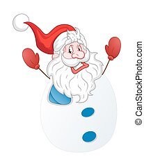 Snowman Santa Laughing