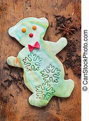 Snowman shaped gingerbread