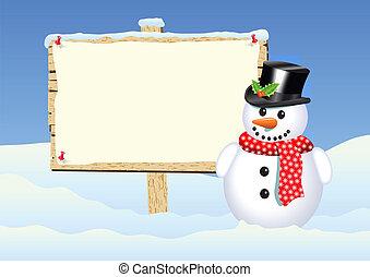 snowman sign