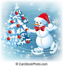 Snowman skates