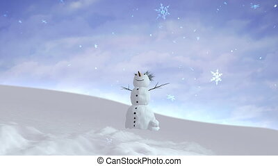 snowman sky wide angle - Snowman can use for Christmas and...
