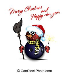 snowman, sparklers, pelotas, bolos