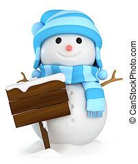 snowman, tabla