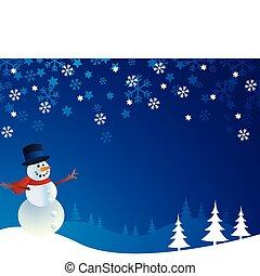 snowman, vector, ilustración