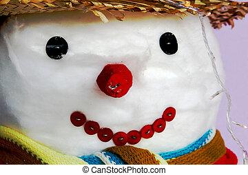 snowman, vestido, bien