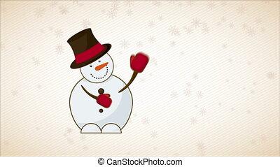 Snowman Video Animation, HD 1080