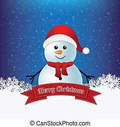snowman winter merry christmas