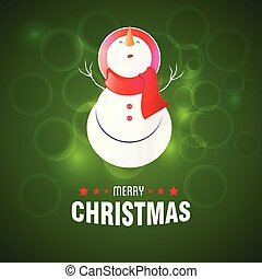 Snowman with green background - This Vector EPS 10...