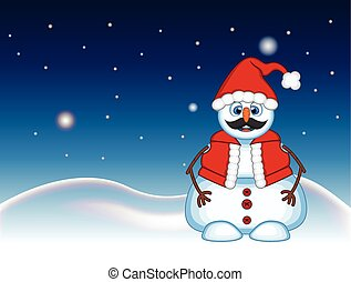 Snowman with mustache