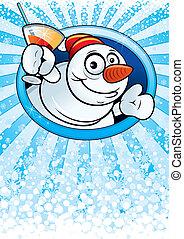 Snowmans card