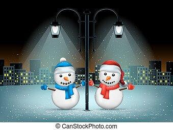 snowmans pillar and night city