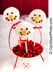 Snowmen and Reindeer Cake Pops