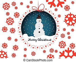 Snowmen merry christmas card