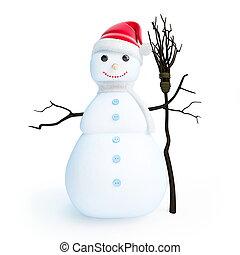 snowmen santa hat
