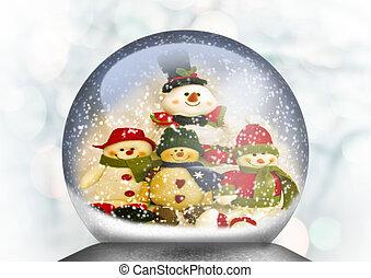 Snowmen - snowglobe