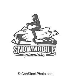 snowmobile dadges logo, badge, emblem - Snowmobile badge...
