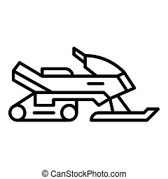 Snowmobile icon, outline style