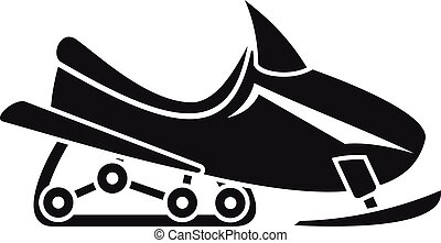 Snowmobile icon, simple style - Snowmobile icon. Simple...