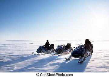 snowmobile, inverno