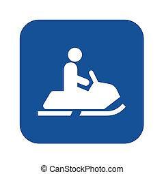 Snowmobile symbol icon illustration