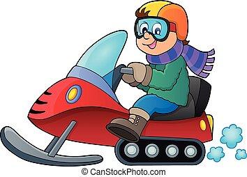 Snowmobile theme image 1 - eps10 vector illustration.