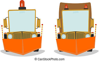 Snowplough. Vector illustration without gradients on one ...