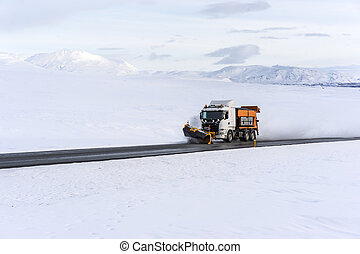 Snowplow Clearing the Ring Road