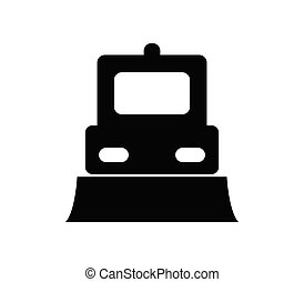 snowplow, fundo, vetorial, branca, ilustrado, ícone