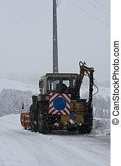 snowplow, trator