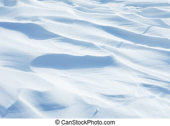 Snowscape - Background of white sparkling snowdrift looking...