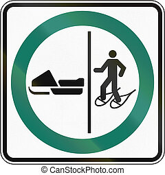 Snowshoeing And Snowmobile Lane in Canada