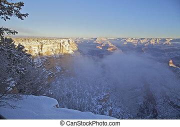 Snowstorm at Grand Canyon