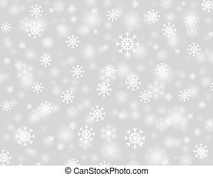 Snowstorm - Beautiful Christmas snowflakes falling from the ...
