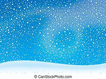 Snowstorm - winter background with snowstorm and snowdrift