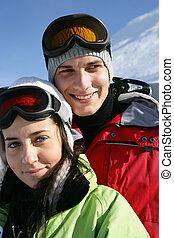 snowsuits, 微笑, 若い人々