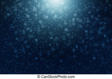 Snowy background - winter night