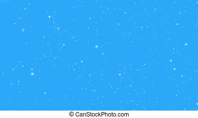 Snowy blizzard - disorderly motion of whirlwind of snowflakes in the gusts of the wind. Looped animation with alpha channel. When overlaying on another video, there is no blue background.