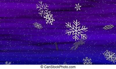 Snowy Blue-Violet Loop