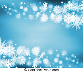Border of snowflakes